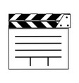 open clapperboard icon image vector image vector image