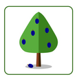 Plum tree icon vector image vector image