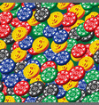 poker chips and coins seamless pattern vector image