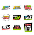 sale super big collection label price vector image vector image