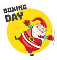 santa boxing day concept banner cartoon style vector image vector image