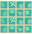 seamless pattern with adinkra symbols vector image vector image