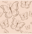seamless pattern with butterfly vintage butterfly vector image