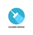 simple cleaning service logotype vector image