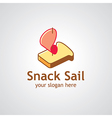 snack sail vector image vector image