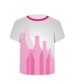 T Shirt Template- glass bottles vector image vector image