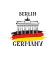 tavel berlin germany sign german flag brandenburg vector image