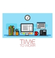 Time to work horizontal banner vector image vector image