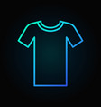 tshirt blue outline icon t-shirt symbol vector image vector image