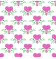 Watercolor seamless pattern with victorian heart vector image vector image
