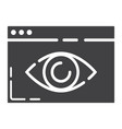 web visibility glyph icon seo and development vector image