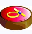 wedding ring vector image vector image