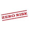 Zero Risk Watermark Stamp vector image vector image