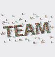 team work big group people vector image