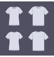 White short sleeve t-shirts templates vector image