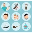 Set of vintage barber shop elements logo labels vector image