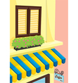 coffee shop front vector image