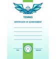 Template Certificate Diploma tennis vector image