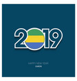 2019 gabon typography happy new year background vector image vector image