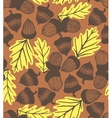 acorn background with oak leaves vector image vector image