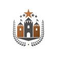ancient castle emblem heraldic coat arms