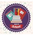 back to school design vector image vector image