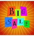 Big Sale Words from Color Paper over Orange vector image