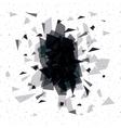 Black and polygonal background design vector image