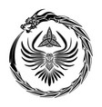 black dragon triskelion 0001 vector image vector image
