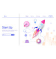 business start up modern flat design concept vector image