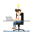 businessman work on laptop icon vector image vector image