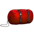 Camp sleeping bag on white vector image vector image