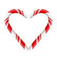candy cane heart for christmas design isolated on vector image