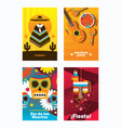 cards with mexica elements vertical design vector image vector image