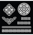Celtic Irish patterns and braids - St Patr vector image vector image
