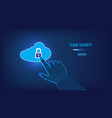 cloud computing data security concept clicking vector image