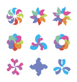 colorful abstract icons vector image vector image