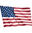 Crumpled US Flag vector image vector image