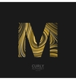Curly textured Letter M vector image vector image