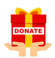 donate gift concept vector image vector image