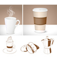 Drawings and Graphics of Coffee Cups vector image