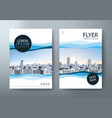 flyer design leaflet book cover template vector image vector image