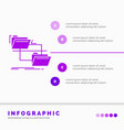 folder file management move copy infographics vector image vector image