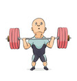 funny cartoon weightlifter vector image