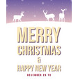 happy merry christmas poster style vector image