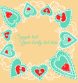heartssnowflakes03 vector image
