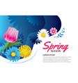 hello spring greeting card and invitation with vector image