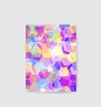 hi-tech abstract background poster geometric vector image vector image
