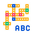 interactive kids game crossword sign icon vector image vector image