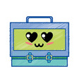 kawaii cute tender suitcase design vector image vector image